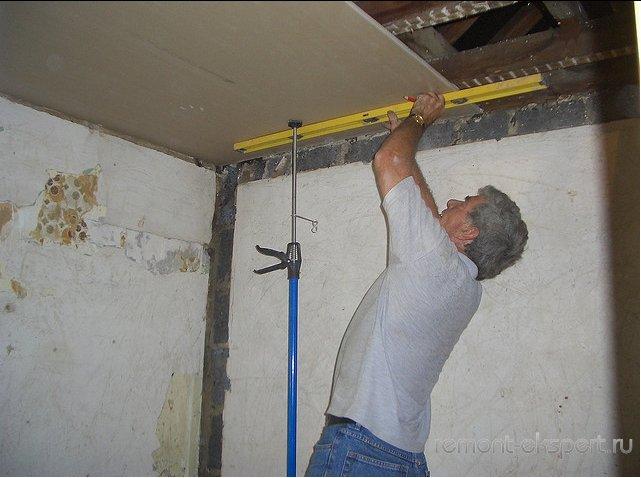 Красивая лёгкая причеГипсокартонные потолки монтаж своими руками