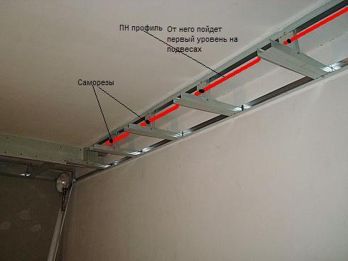 Плюсом подвесных конструкция
