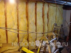 Звукоизоляция стен миниральной ватой