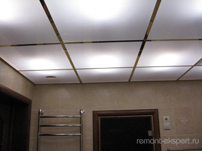 плиточный потолок подвесной