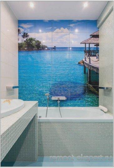 фотопечать в ванной комнате
