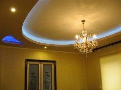потолок в квартире из гипсокартона