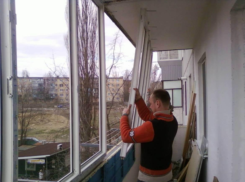 Как остеклить балкон своими руками.
