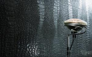 Обои под кожу в декоре интерьера: виды и оформление стен