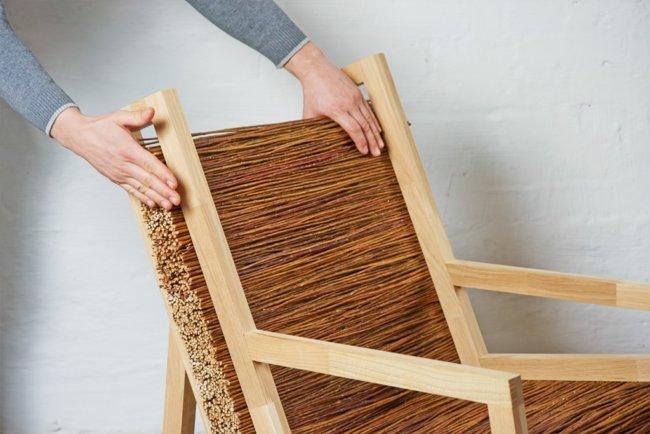 Как сделать кресло из деревянных прутьев в эко-стиле