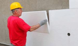 Наружное утепление стен при помощи пенопласта