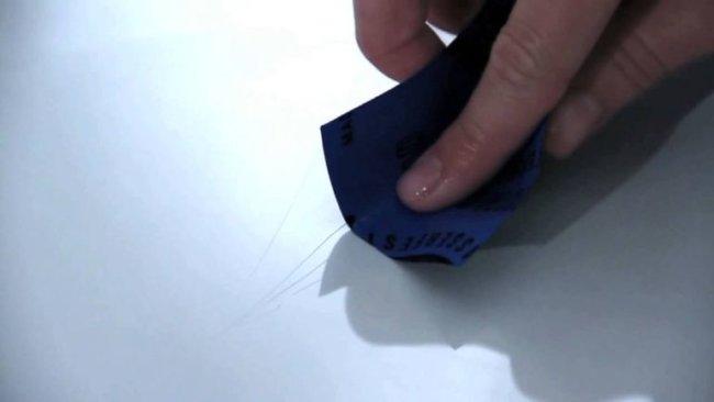Как устранить мелкие царапины?