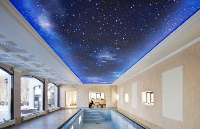 Натяжные потолки с эффектом звездного неба