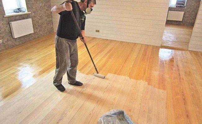 Уход за деревянным полом с масляным покрытием