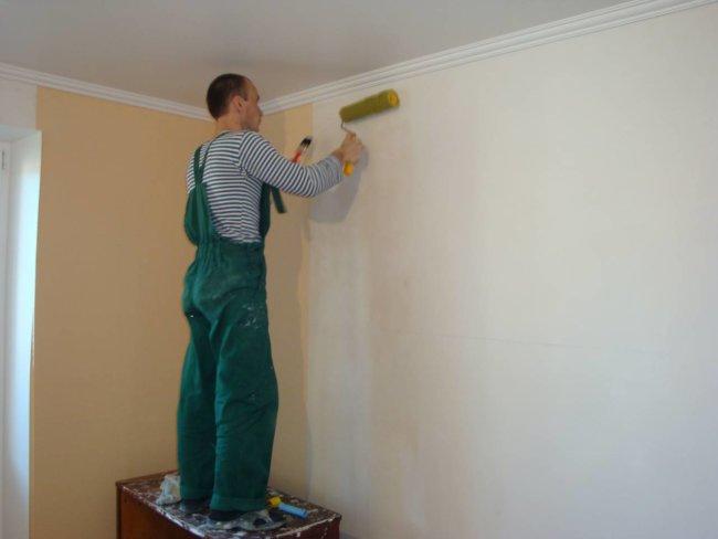 Покраска стен после удаления обоев