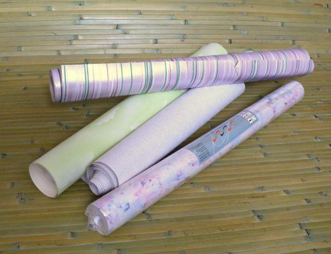 Отдельные виды рулонных отделочных материалов