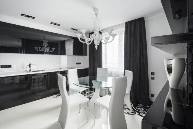 Сочетание с другими элементами кухни и столовой