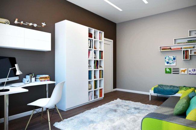 декор стен гостиной комнаты