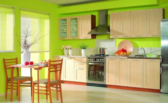 краска стен на кухне