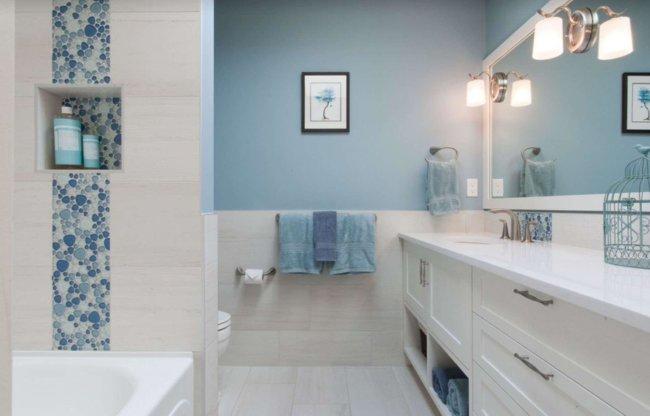 5. Покраска стен санузла и ванной комнаты